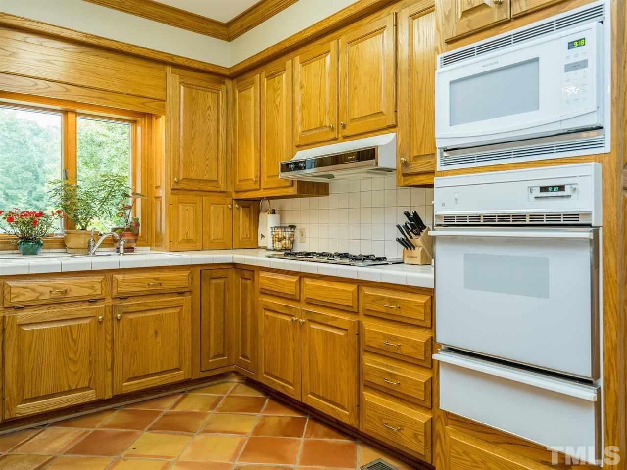 There is abundant cabinet and counter space in this well-designed kitchen.