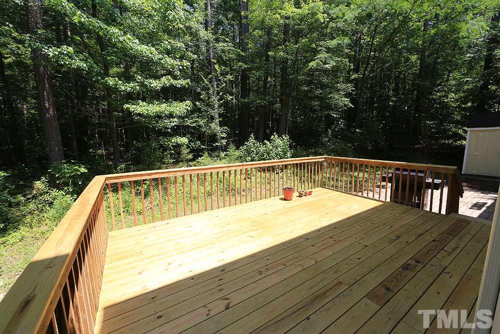 Spacious brand new deck perfect for grilling and enjoying your favorite beverage.
