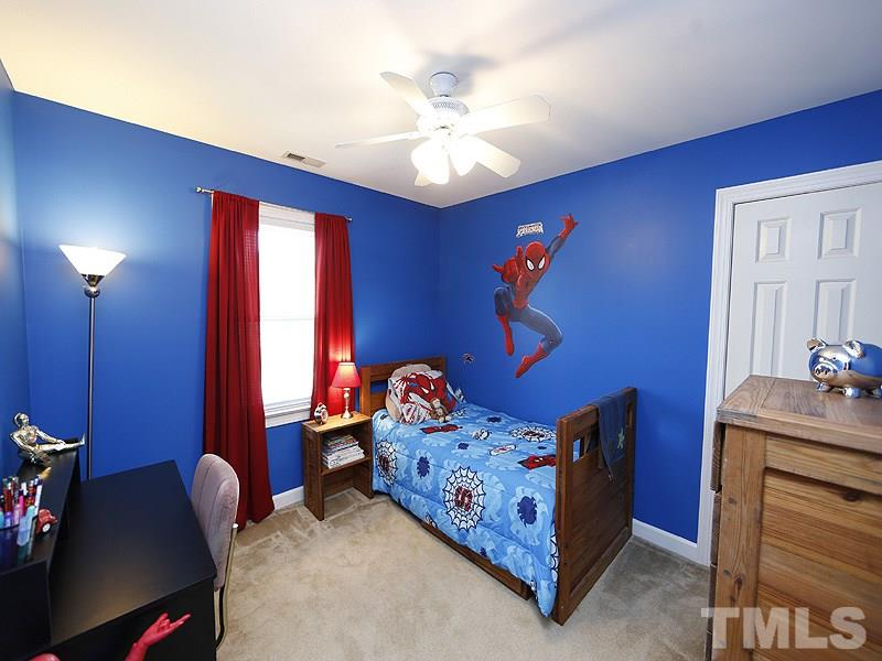One of the kids rooms is ready for a new Spiderman! Don't worry this is a sticker and can be removed. :-) Great closets!