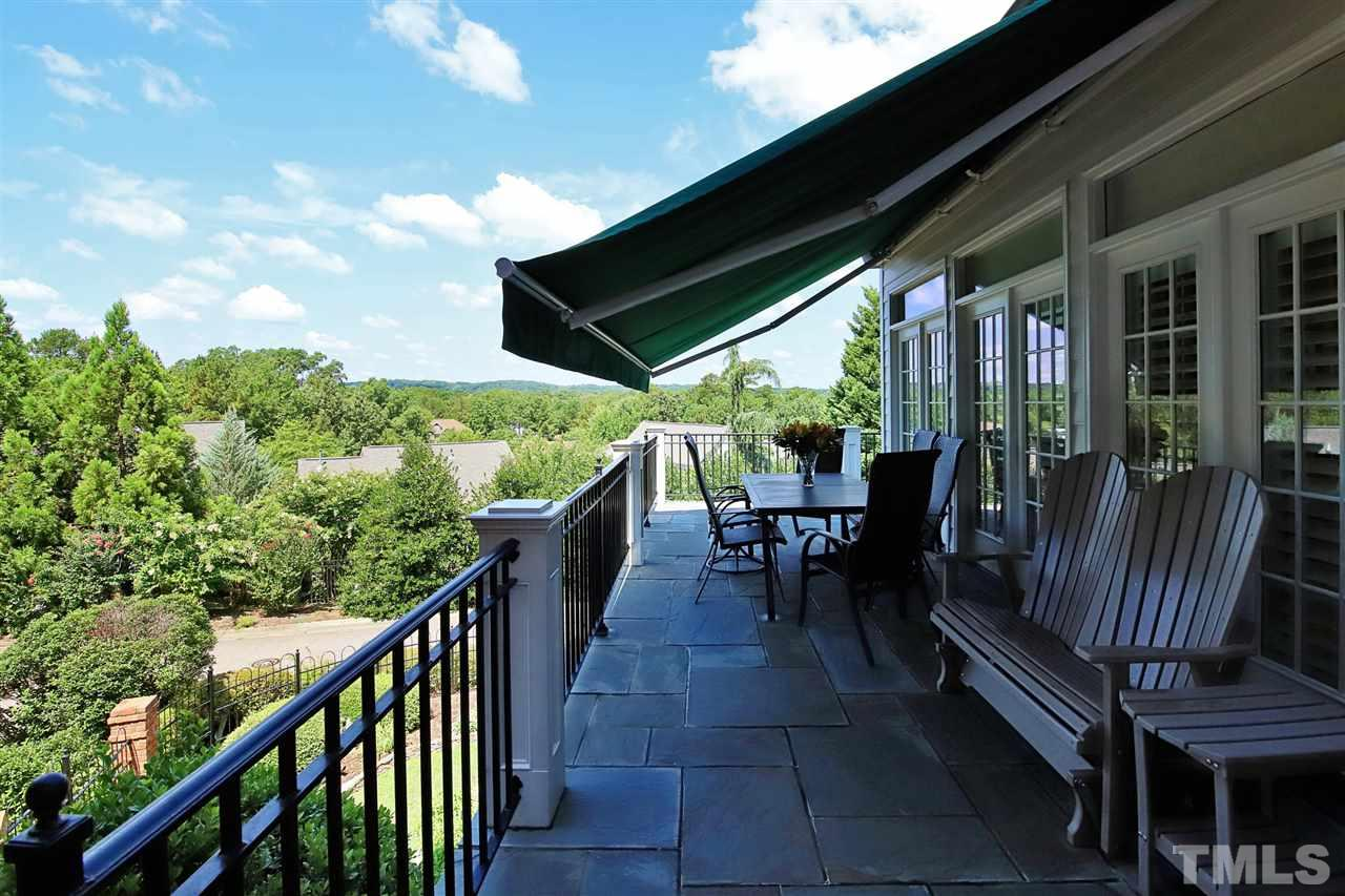 The deck on the main level features a retractable awning, with wonderful western views towards the UNC campus and incredible sunsets.