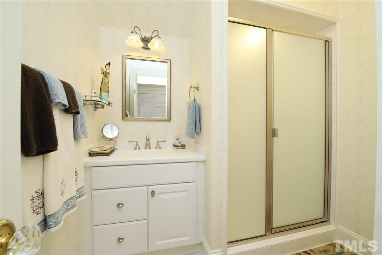 The bathroom adjoining the largest of the additional bedrooms.