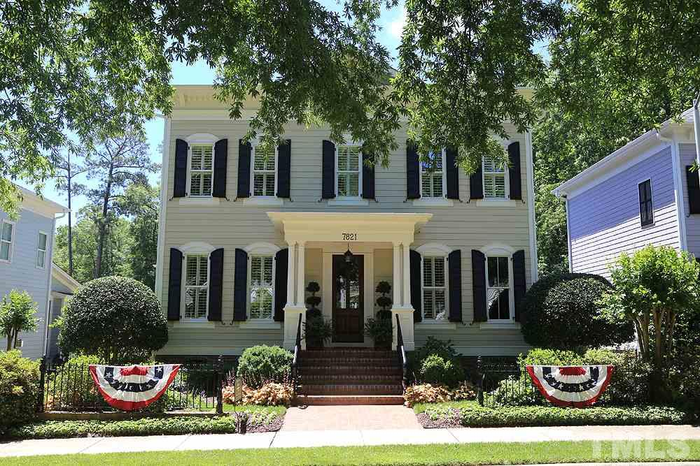 Welcome home! This Charleston style home in desirable Madison Park subdivision, in the heart of N Raleigh,  is just a short walk to shopping, Whole Foods & convenient to 540/440. The pristine, manicured & vibrant landscaping catches your eyes immediately.
