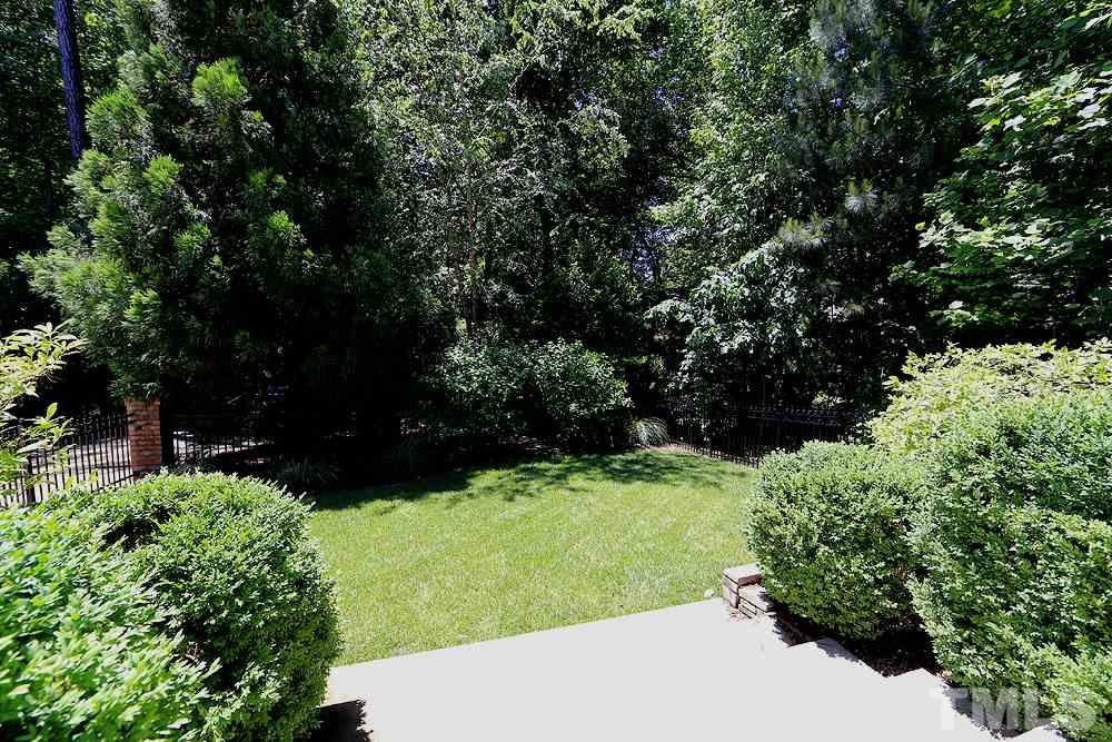 Another view of the gorgeous, private backyard.  It is one of the largest backyards in the neighborhood.