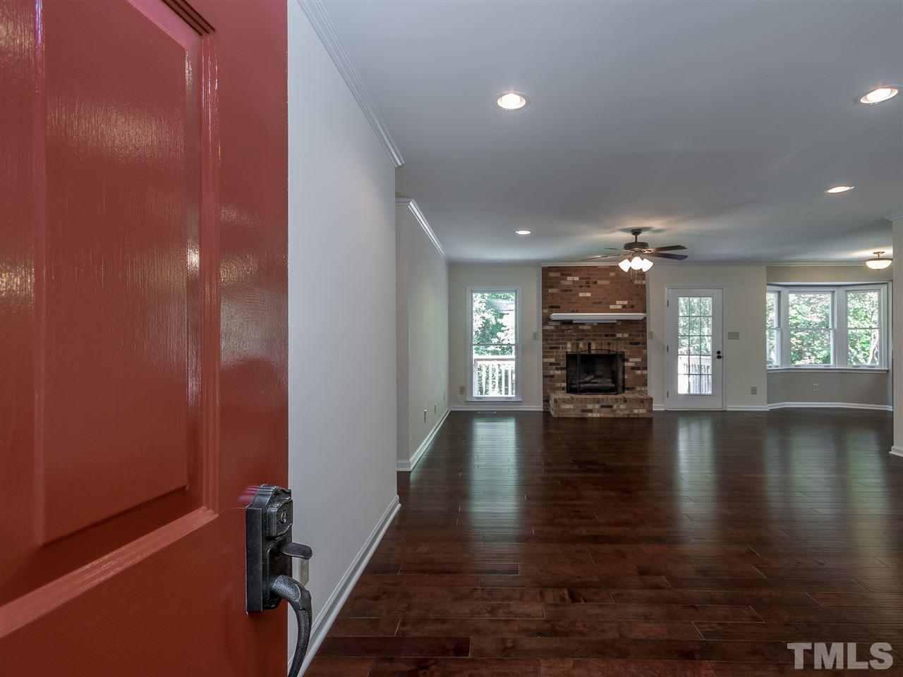 Large open Great room that runs from front to rear of house.