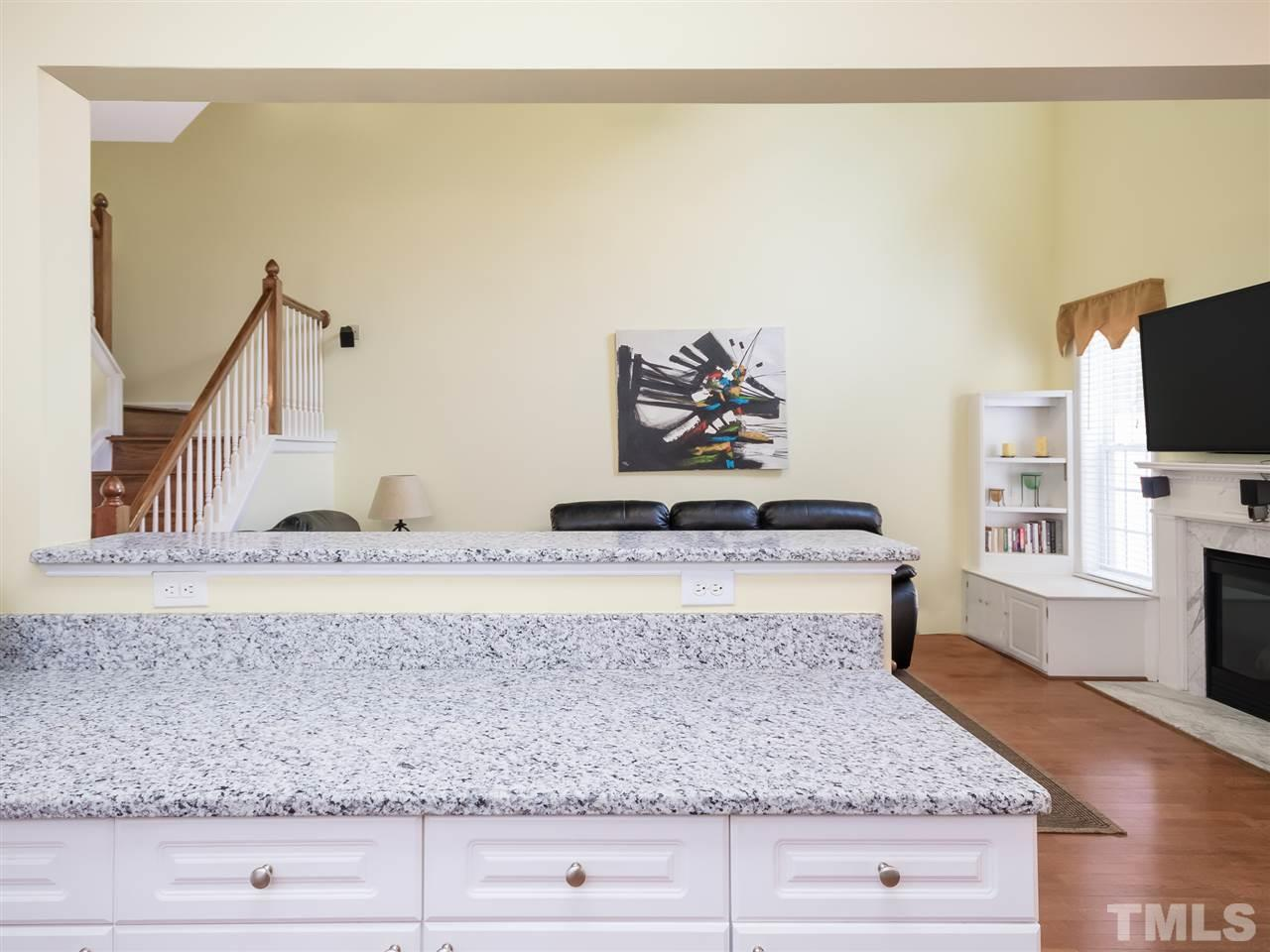 Beautiful granite countertops! Have parties? This home lends itself to fun gatherings!