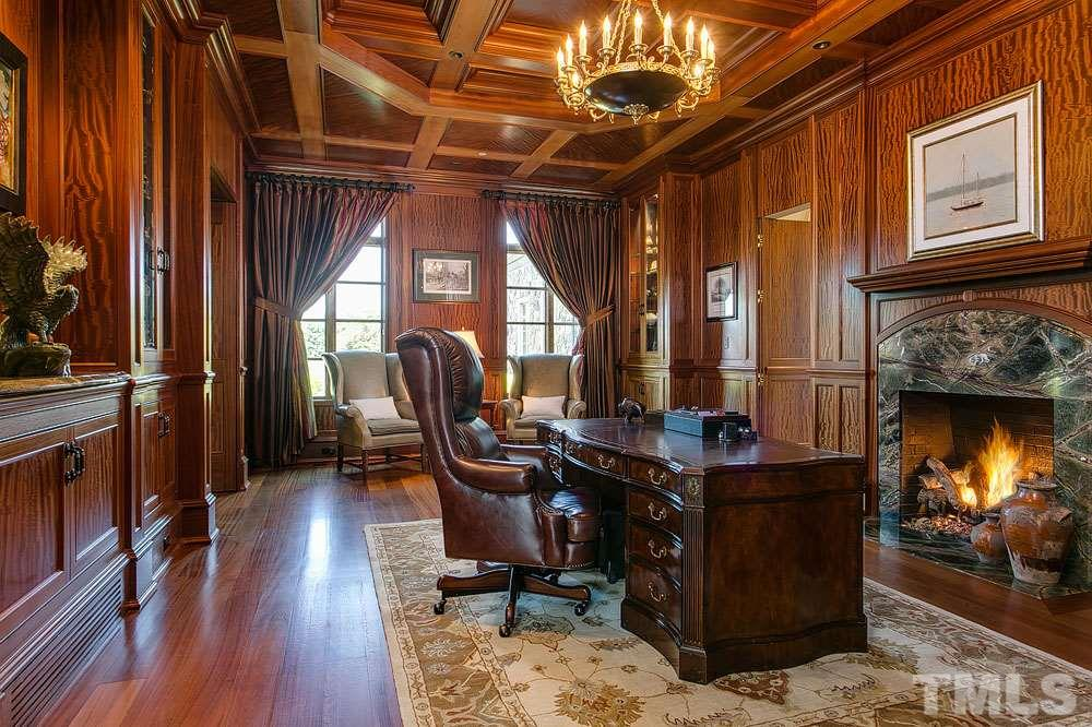 Throughout the home you will see this amazing, rarely seen Sapele wood in the flooring, cabinetry and paneling.