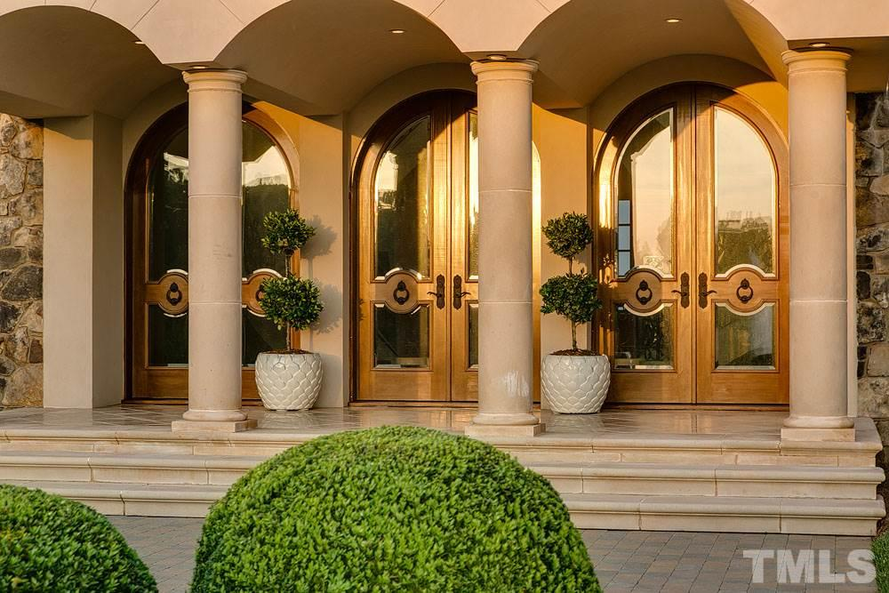 Grand front entry with beautiful sunrise views