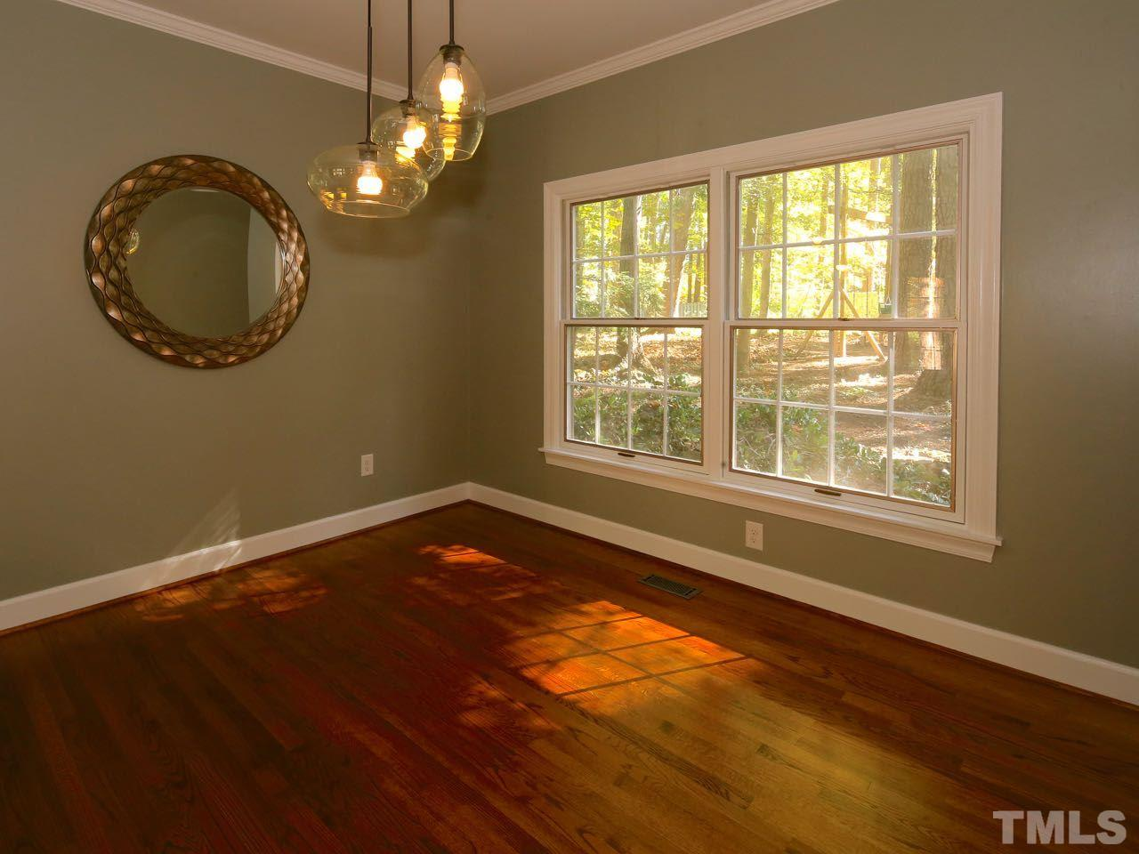 The master bedroom has a beautiful, high-quality, thick pile carpet. The window treatments do not convey.