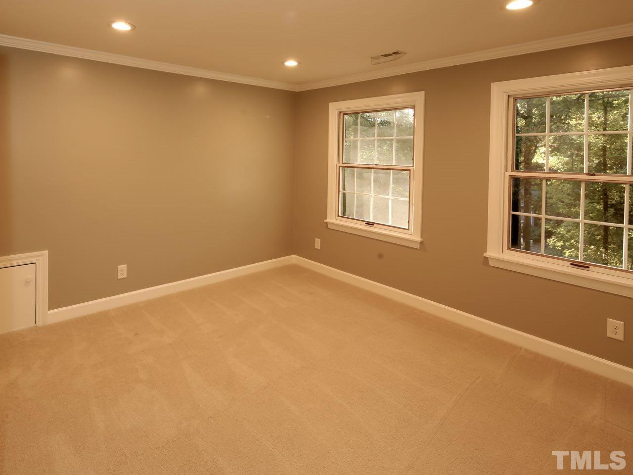 The entire house was recently painted. Eggshell sheen. The colors are vibrant and classy.