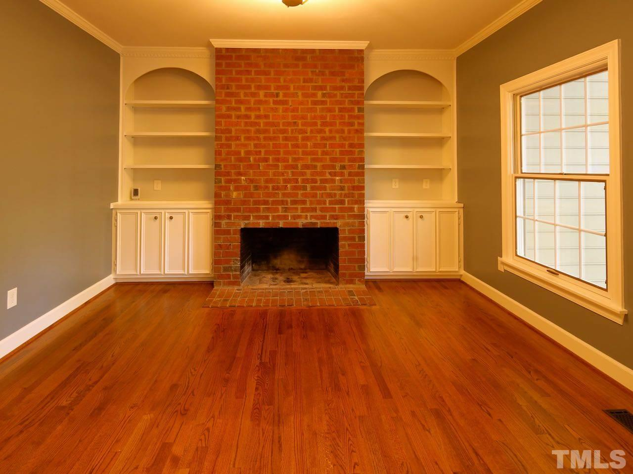 Gleaming hardwood floors run throughout the main level. These are the real deal: 3/4 inch, site-finished solid oak floors.