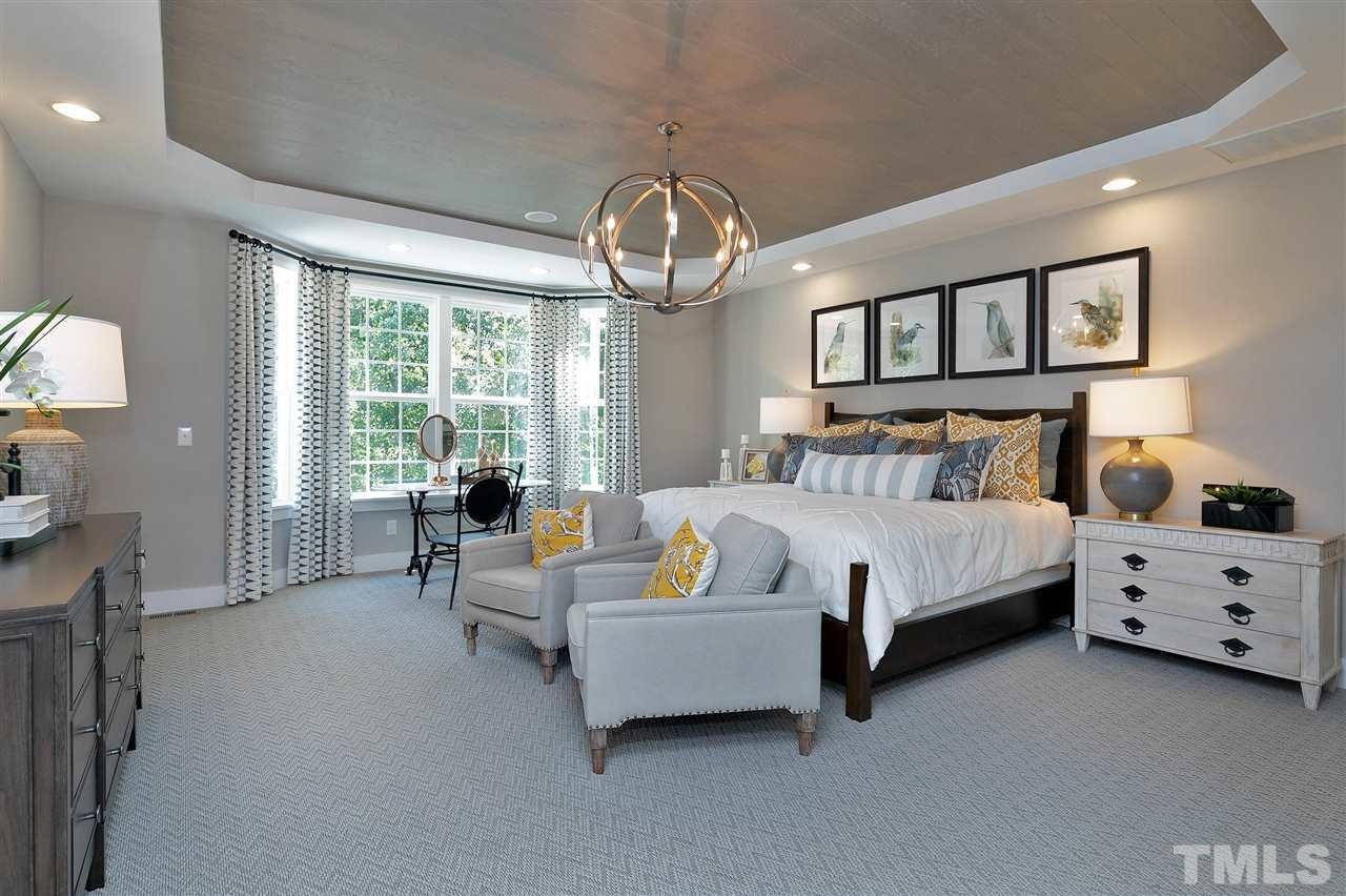 Large master with bay window. Ship lap trey ceiling. Gorgeous!