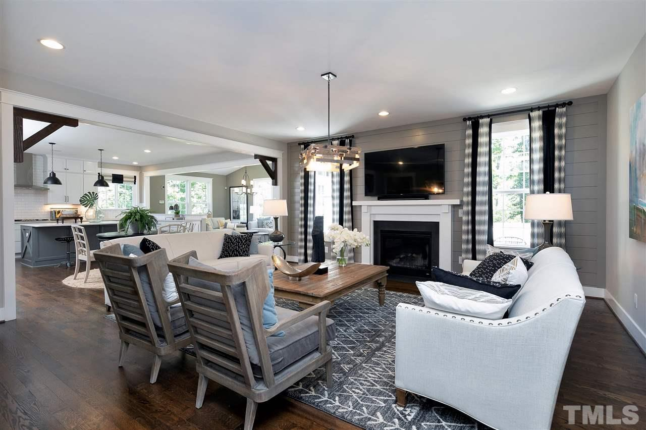 Family room open to kitchen and morning room. Light and bright!