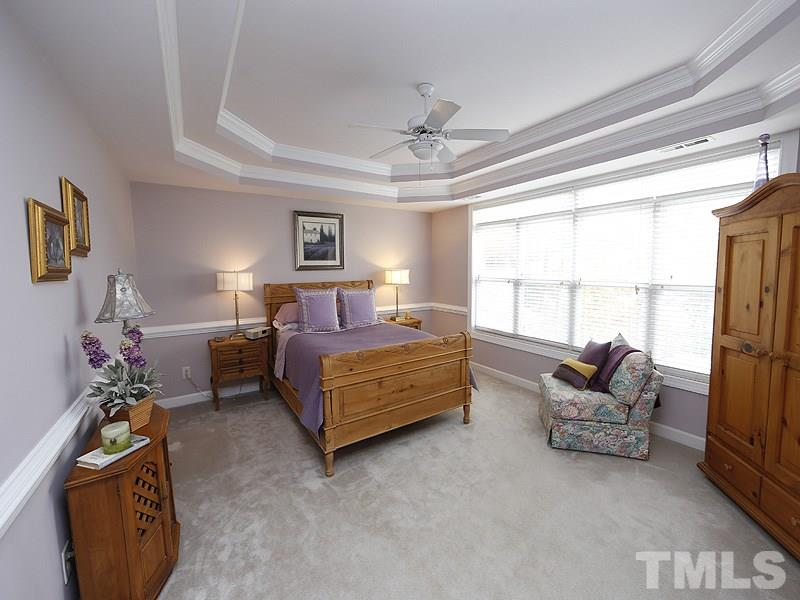 This 2nd Floor Master Bedroom is part of the original floorplan of the home, w/ a Master Bath and Walk-in Closet.