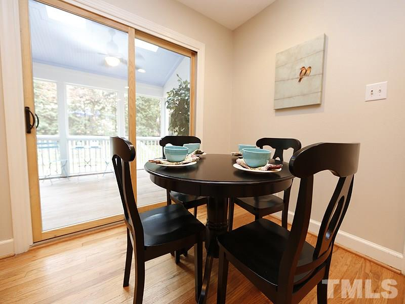 Enjoy morning coffee as you look at through the screened porch