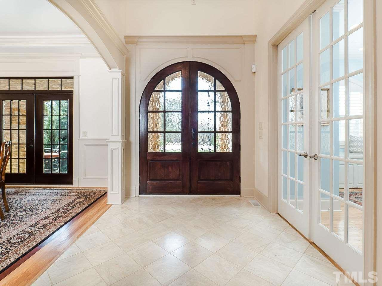 Beautiful Marble tile, 2-story Entry Hall