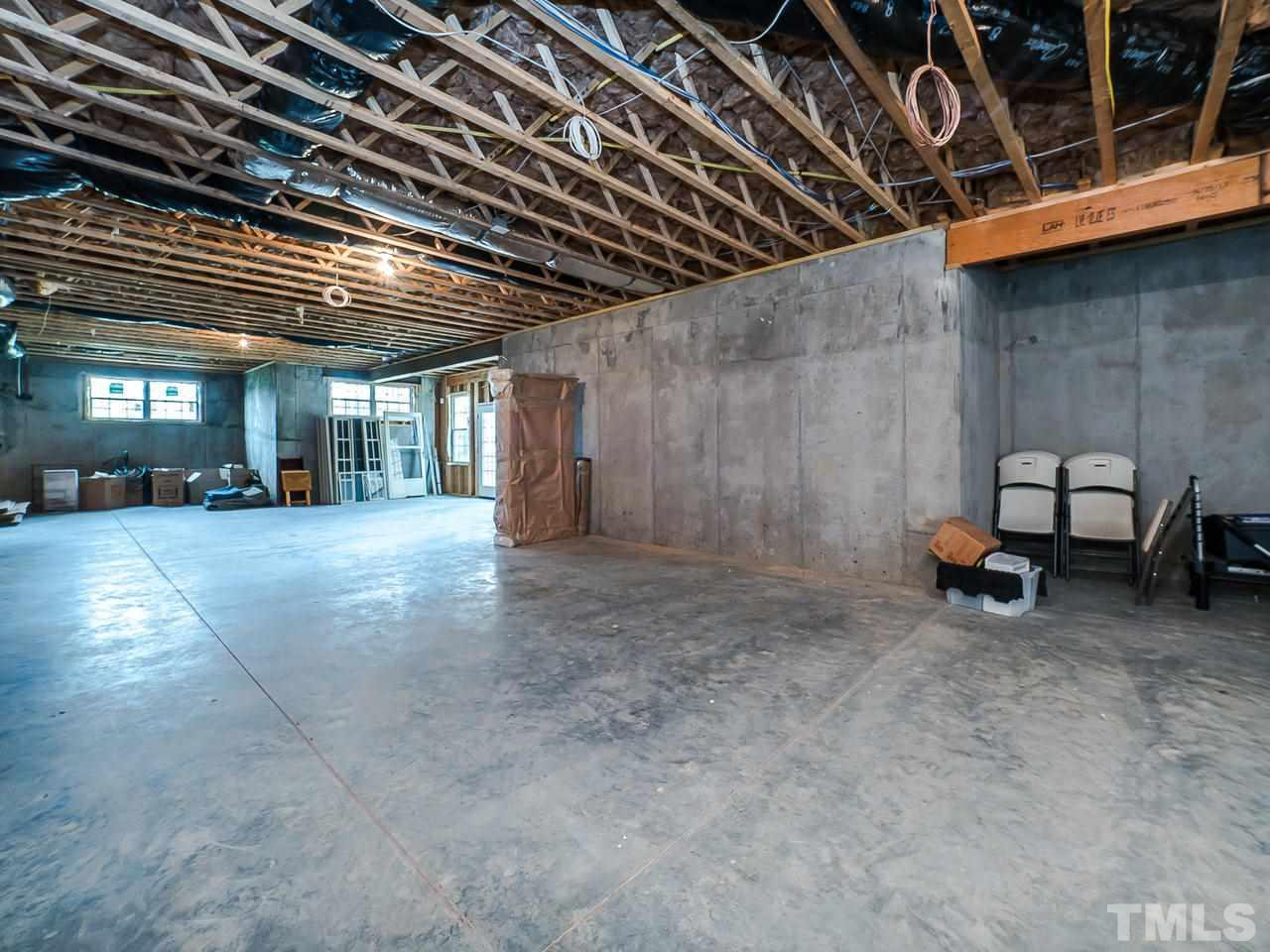 Over 3300 sqft of unfinished Basement allows for endless possibilities: Home gym,  Recreation Room, Wine Room, etc.  Daylight, walk-out Basement to lovely Patio area.