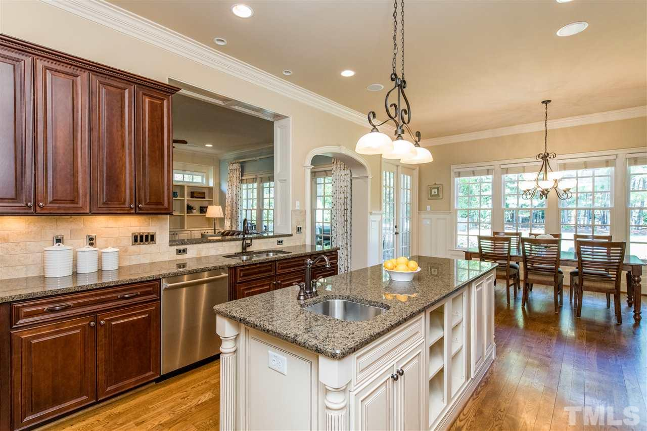 Coffered Ceiling, Sizable Elegant Dining with Arched Entries