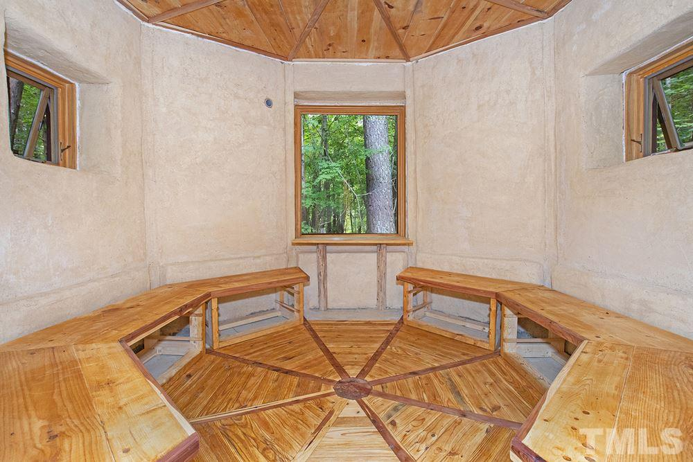 Interior of Meditation Hut