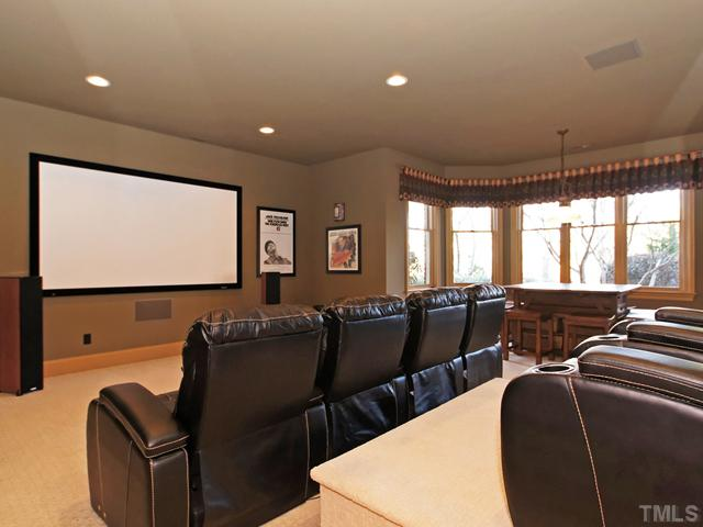 Don't miss the media room w/stadium style seating!
