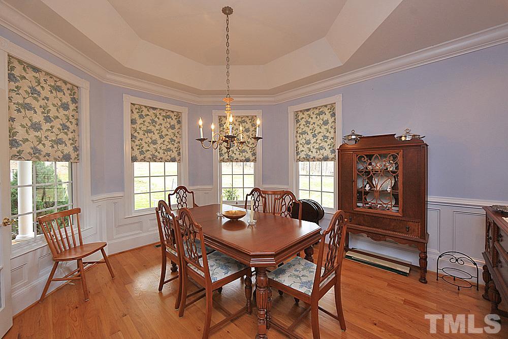 Hardwood floors, bay window