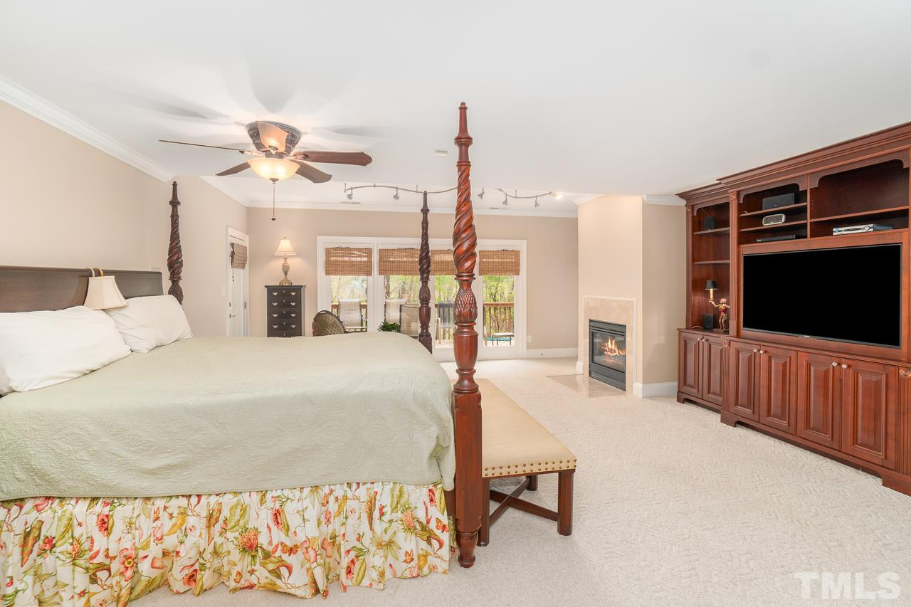 Lower level with fireplace current owners are using as their master suite.  Can function as bonus area as well.