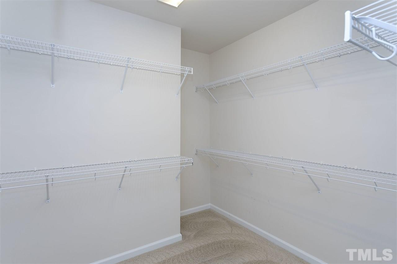 Over-sized walk-in closet