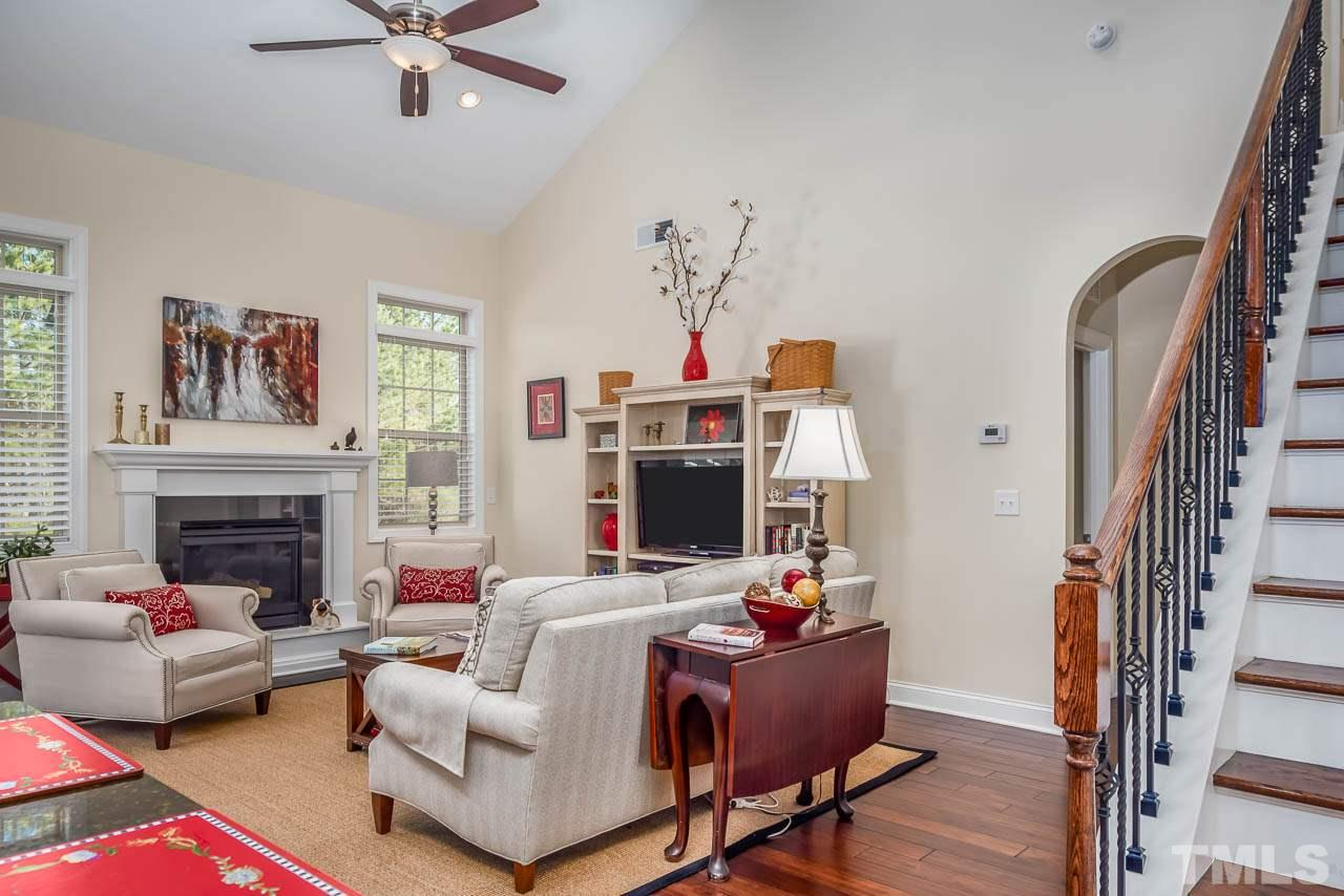 Large family room with cozy fireplace!
