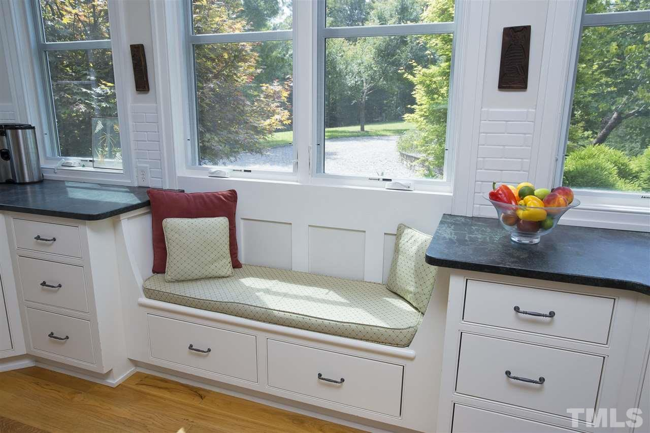 Everyone needs a window seat in their kitchen!