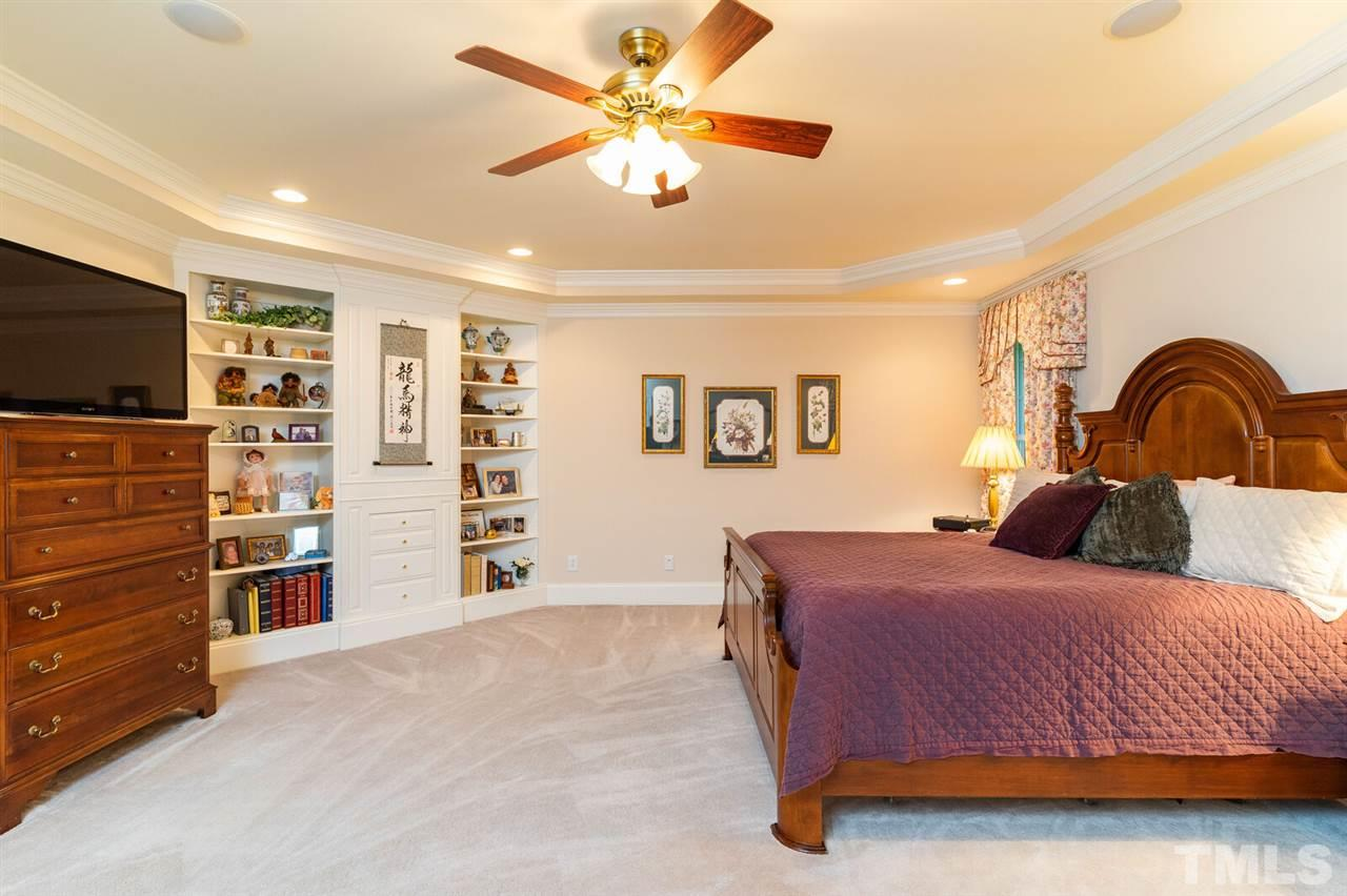 First Floor Owner Suite, beautiful built ins for all of your personal items.