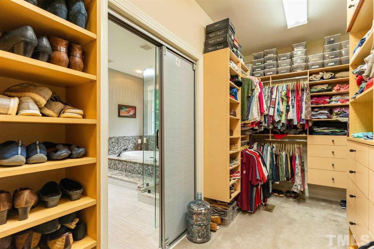 Huge Closet with Custom Closet arrangement. Tons of storage.