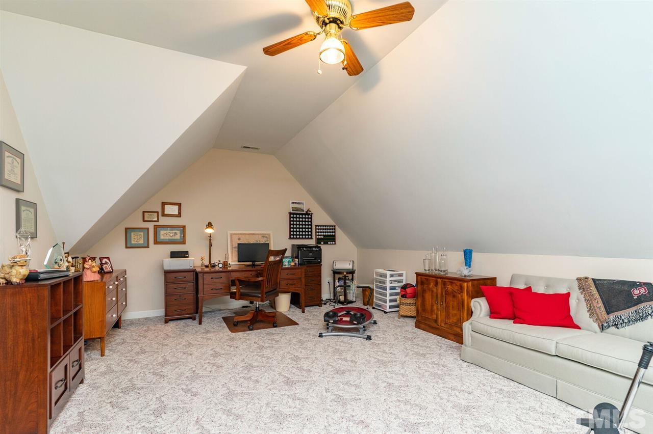 Bonus room with tons of floor space. Huge walk in closet. Access to the largest walk of attic space I have ever seen. Must see.