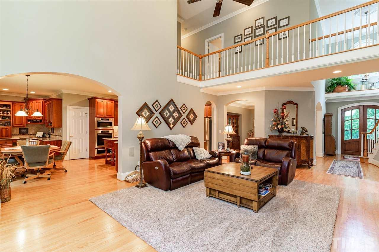 High ceilings, off the kitchen