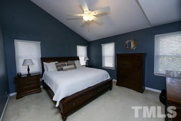 Vaulted Ceiling in Spacious Master Bedroom with  Abundant Windows (Replaced 2015).