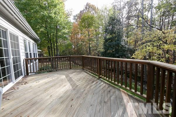 Terrific Spacious Deck that is Great for Entertaining and Grilling out ! Enjoy some Peace and Quiet in Your Private Backyard !