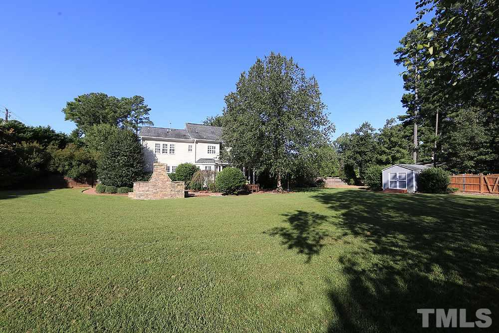 .93 of an acre to enjoy. Nice flat yard that has even more possibilities!