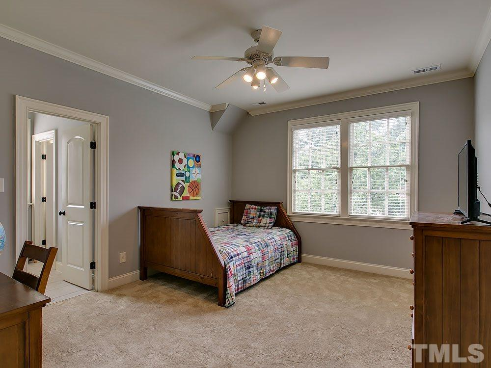 Large secondary bedroom with large walk-in closet.