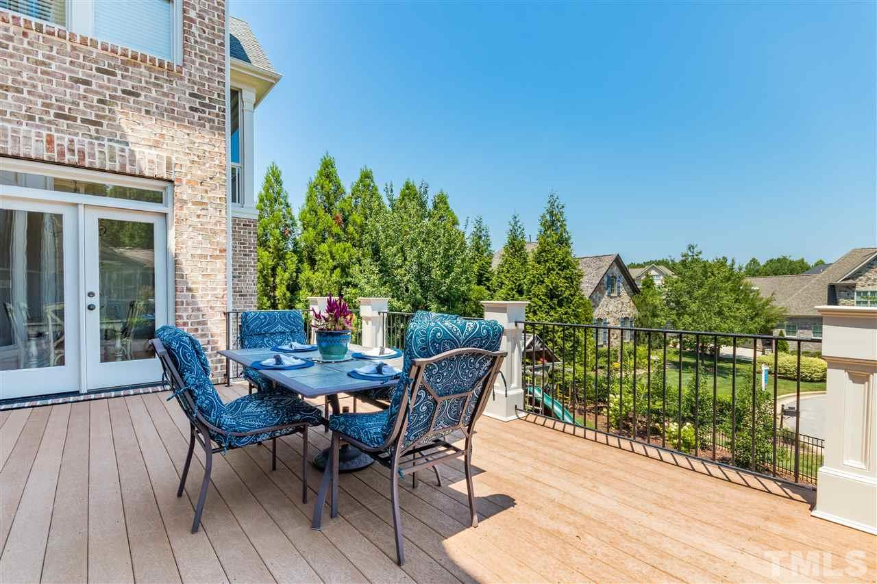 Deck off the main level to extend the entertaining and dining experience.