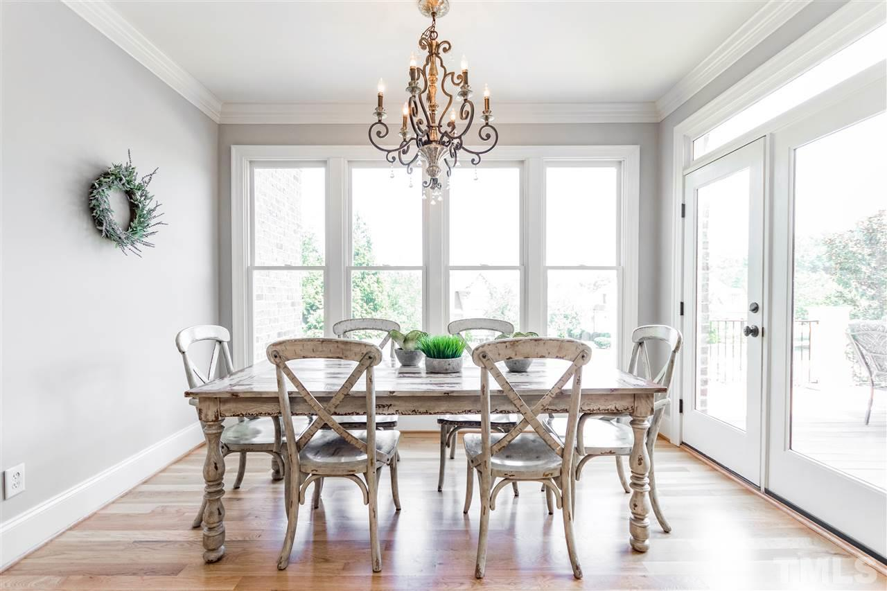 Bright area for breakfast and other casual meals.
