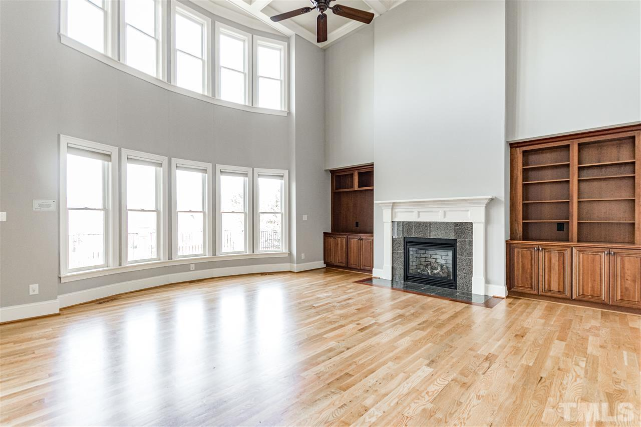 Custom built-in cabinetry in grand great room.