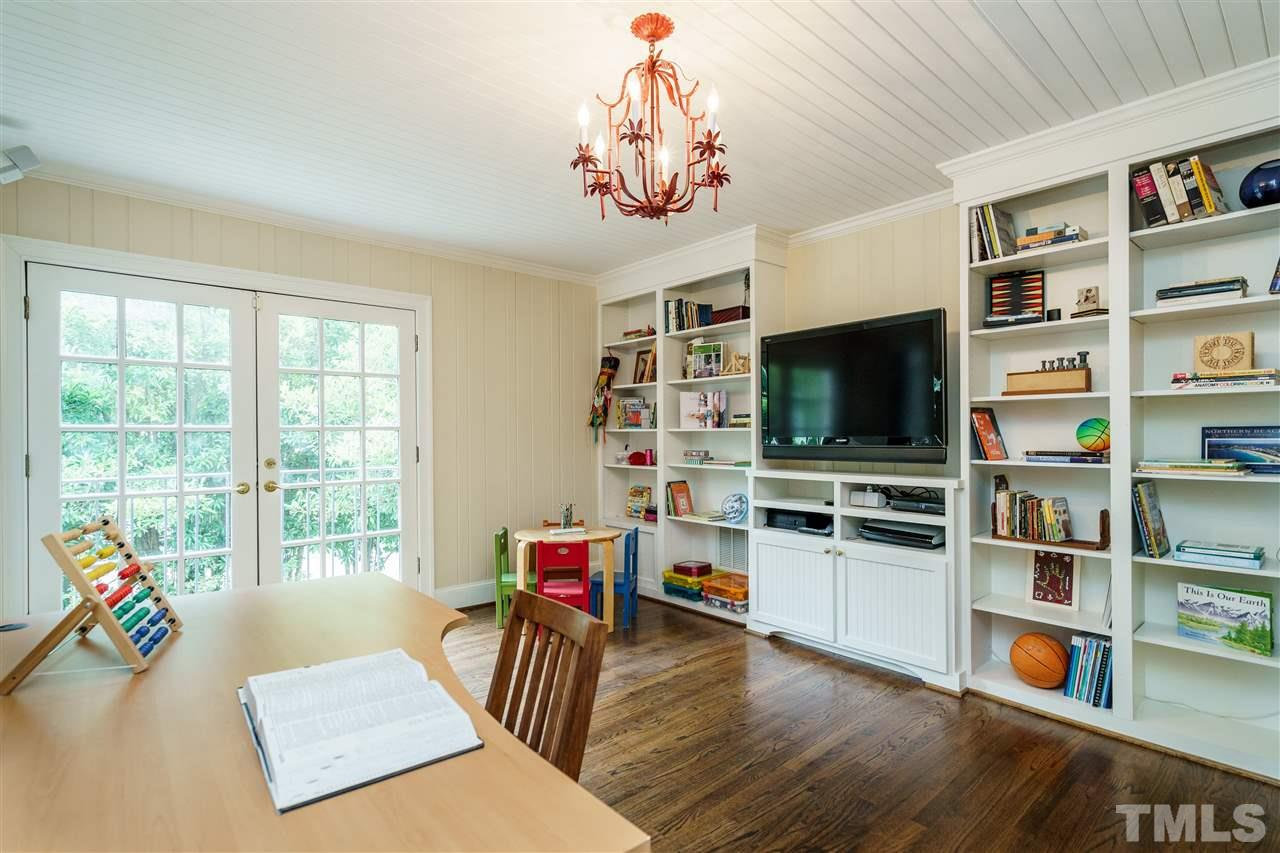 So many options to transform this flex space as you wish. Sunny and quiet for art studio, meditation room, or practice space for the family piano. Built-ins are a plus.
