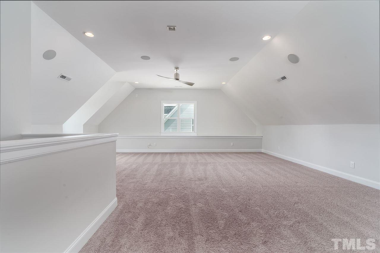Finished attic with bedroom and full bathroom! Notice the surround speakers which are throughout the house!