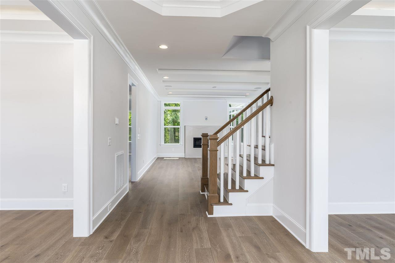 Spacious foyer opens to your family room.