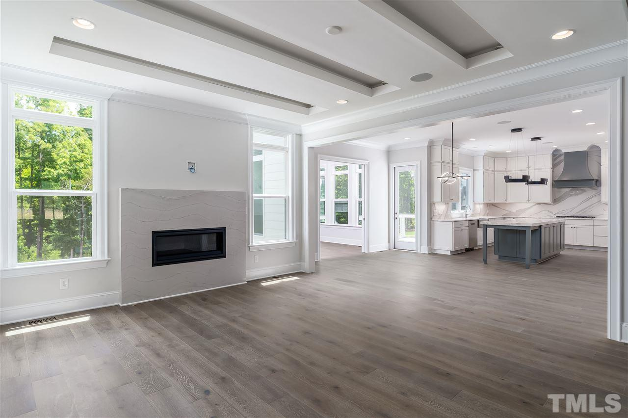 Open and spacious floorplan with modern fireplace!