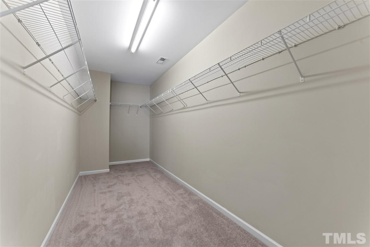 The master closet is also huge!