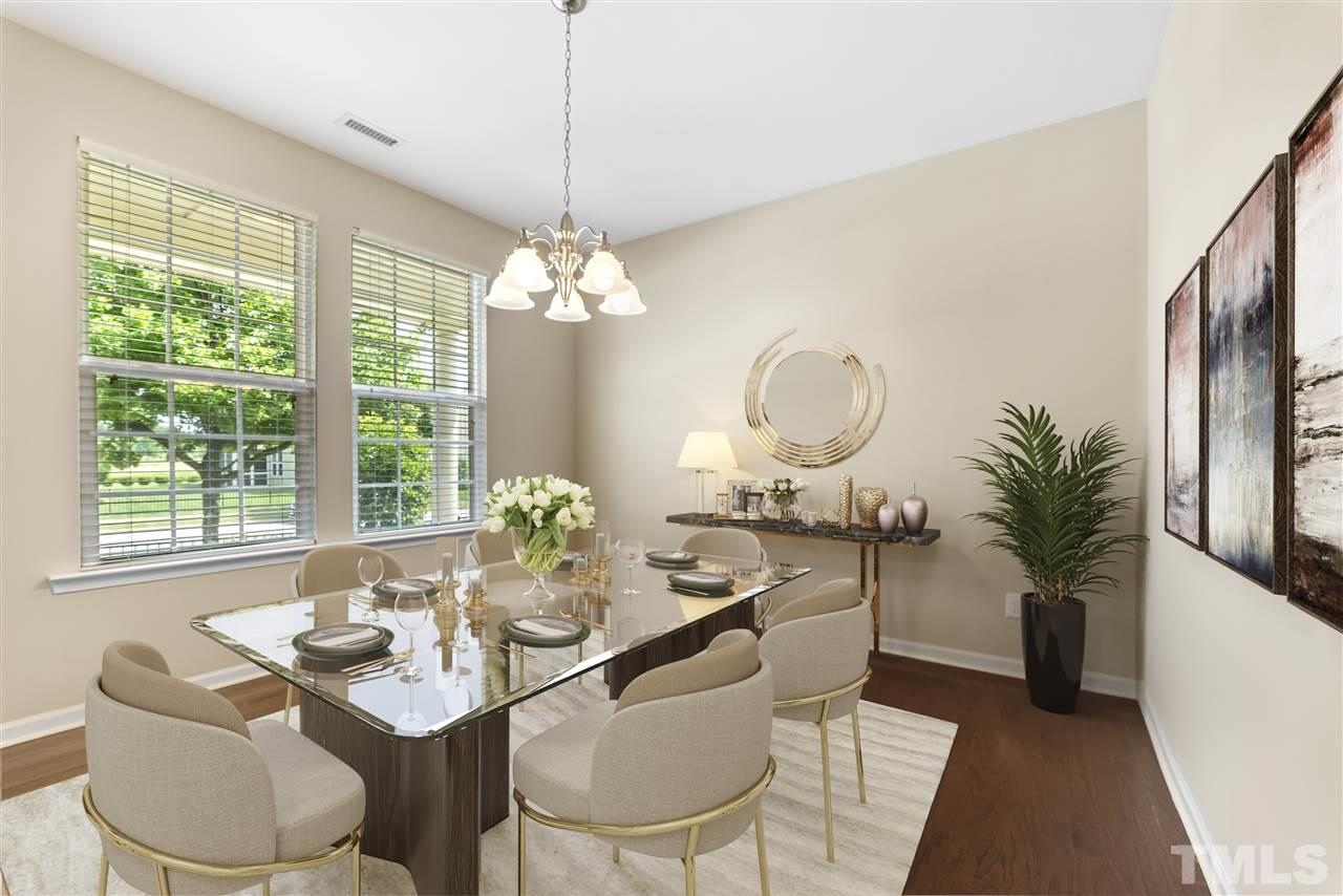 Virtually staged, the dining room can also serve as an office/study/flex room.