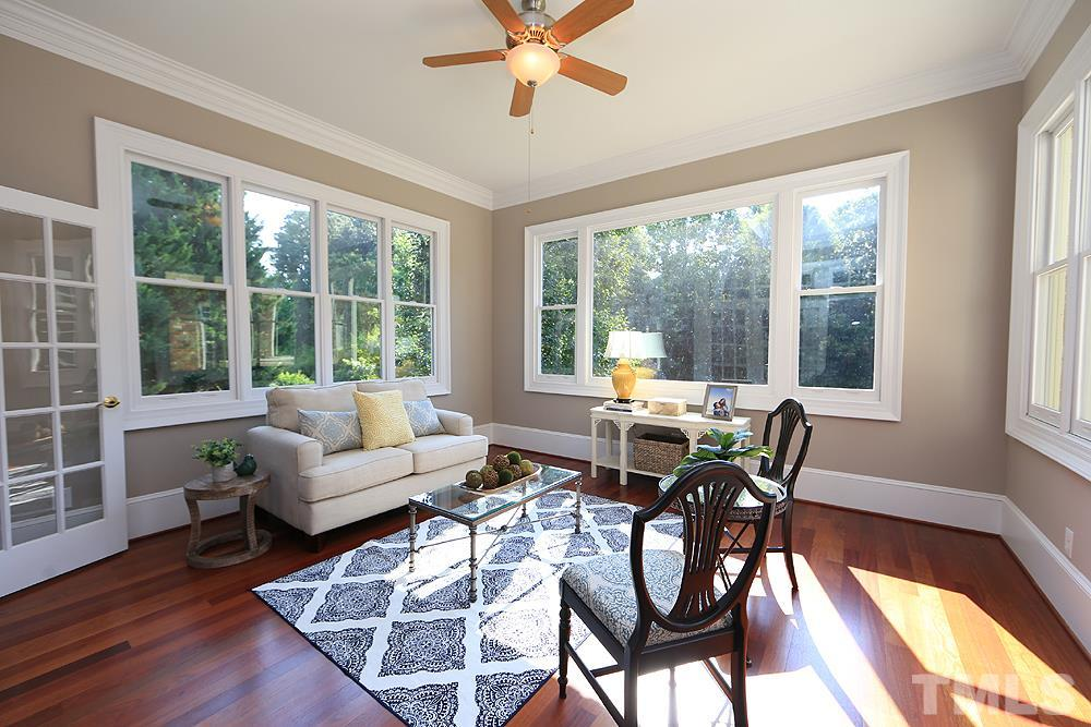 The window in the sunroom are wood replaced in mid 2018, the remaining windows in the home are vinyl just replaced in 2019.