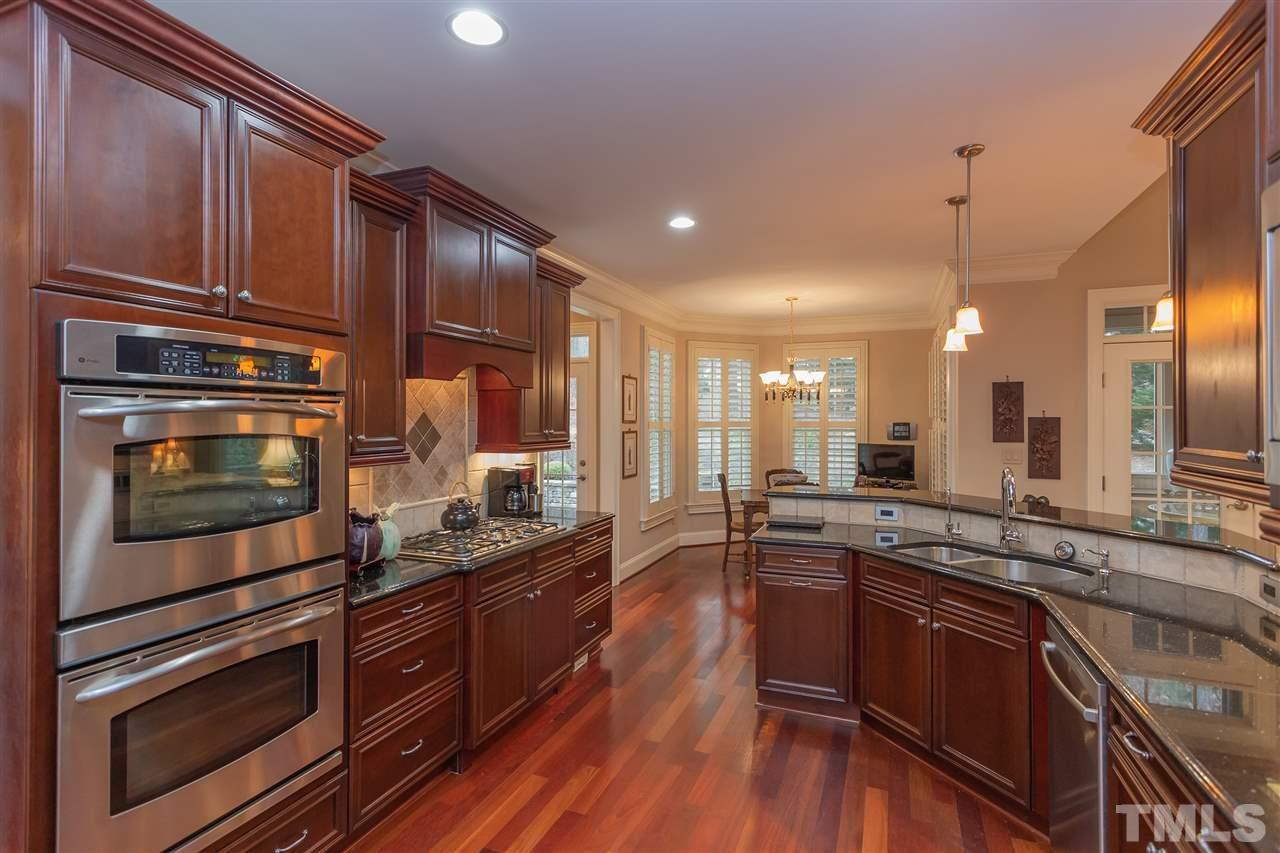 Great up to date open floor plan with views from kitchen, eat in breakfast area, and family room area.