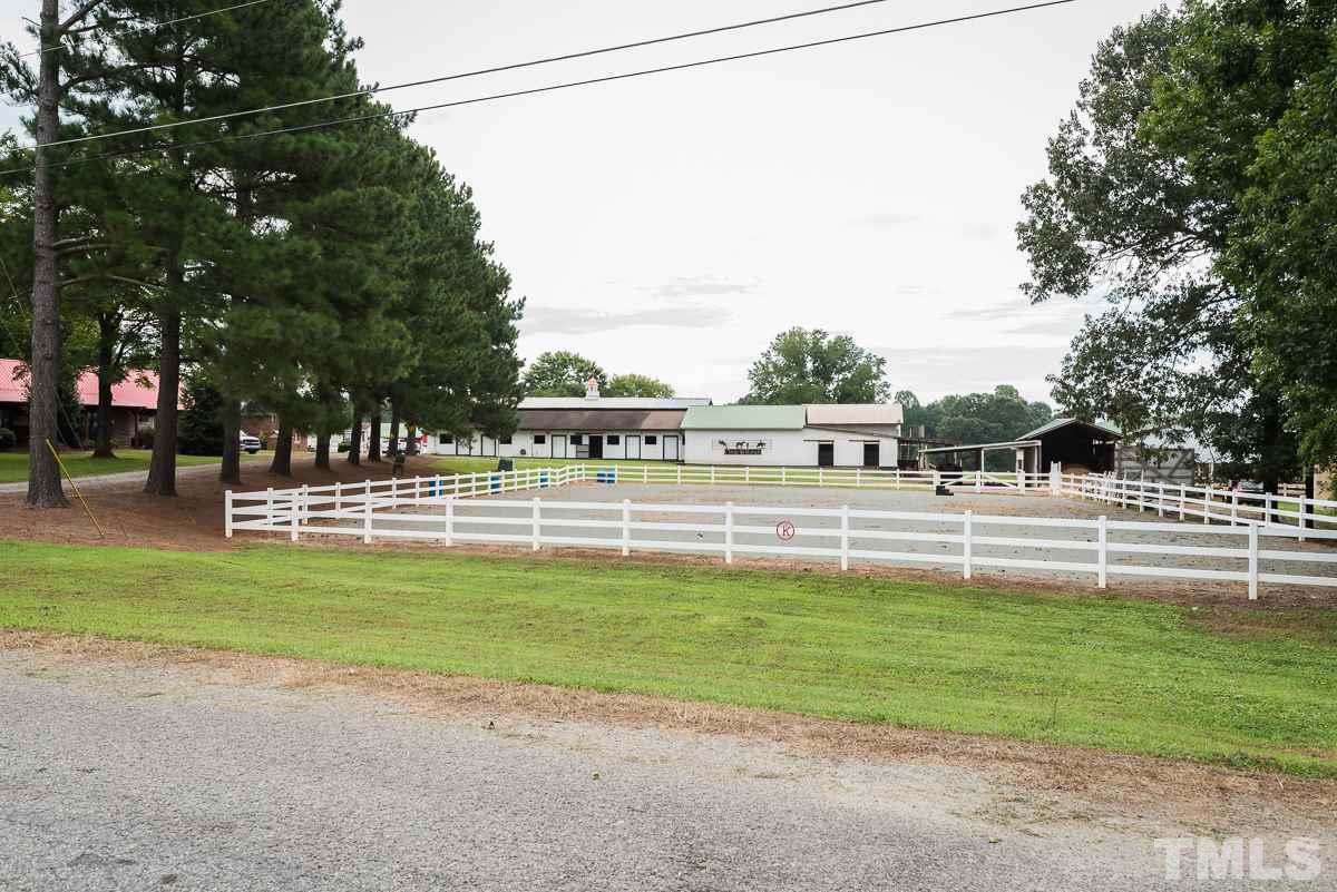Front, Outdoor schooling arena