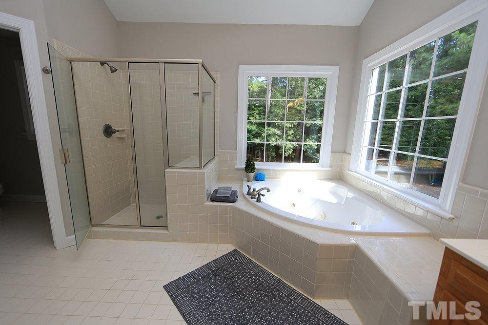 There is a second master closet off bath, as well as a huge linen/storage closet.