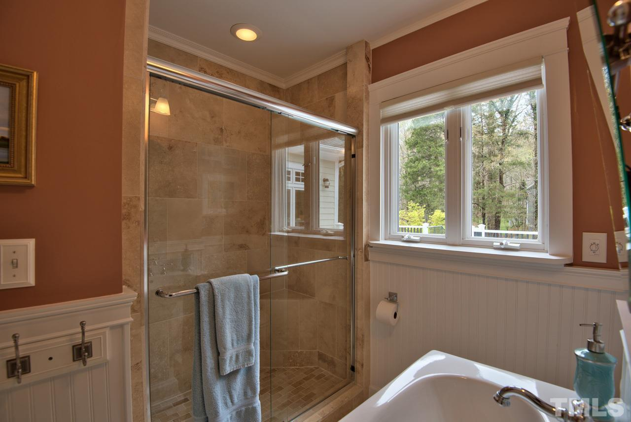Second floor original MBR opens to large balcony with outdoor shower.